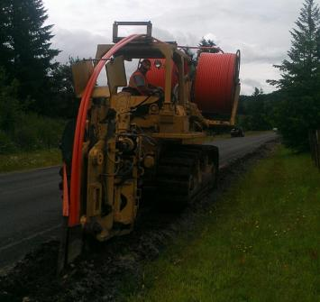 Image of a machine trenching
